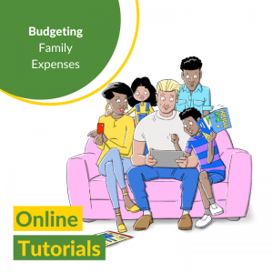 Group working on family budget